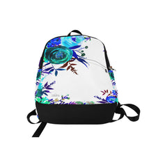 WOW | i Collection Aquamarine Floral High Grade Waterproof Nylon Casual White Backpack