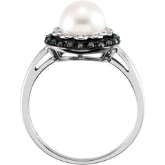 WOW Pearl Fashion | Halo-Style Ring for Pearl