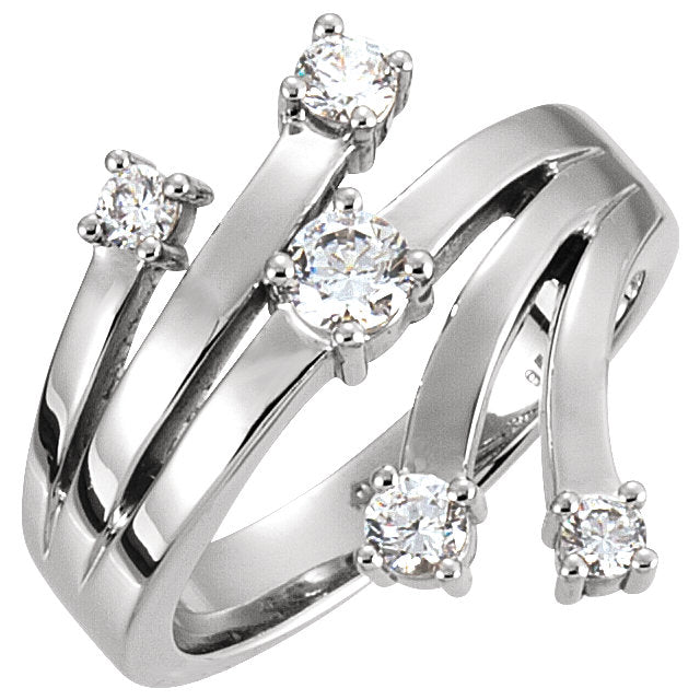 WOW Diamond Fashion | 14K White 1/4 CTW Diamond Right Hand Ring