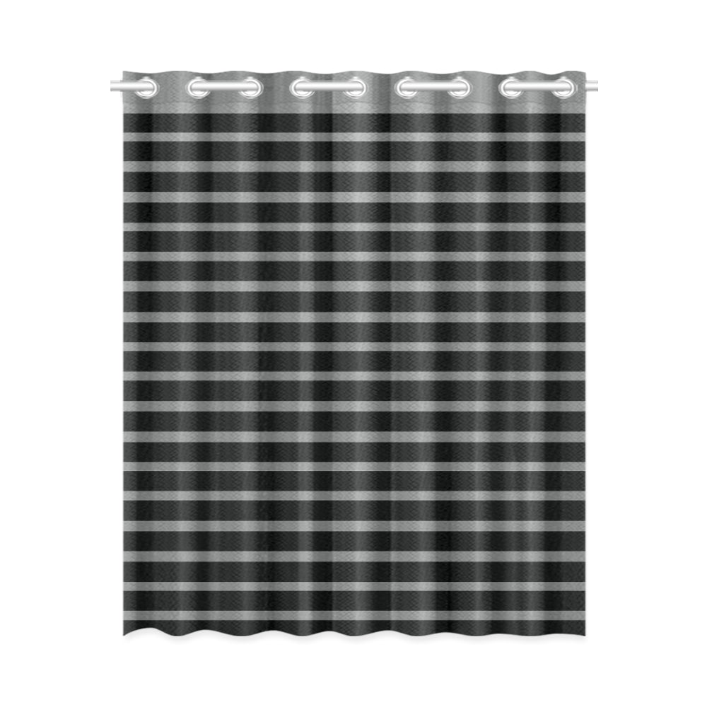 WOW | i Collection Black & Grey Stripes Designer 52x63 Window Curtain