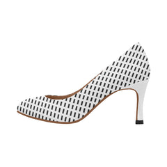 WOW | i Collection Women's Pumps High Heels Multi Black & White Fine Rectangular Pattern Shoes