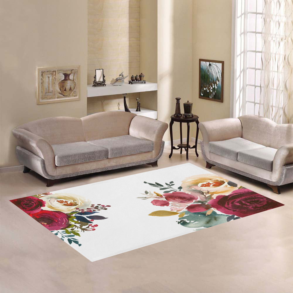 WOW | i Collection Colorful Floral Area Rug 7' x 5'
