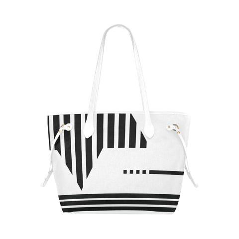 WOW | i Collection Colorful Floral High Grade White Classic Tote Bag