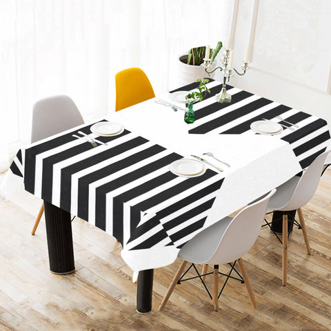 WOW | i Collection B&W Geo Patterns Tablecloth 60x120 Decoration