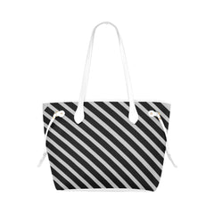 WOW | i Collection Geo Stripes High Grade Soft Silver Grey Classic Tote Bag