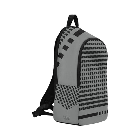 WOW | i Collection Geo Corners High Grade Waterproof Nylon Casual Grey Backpack