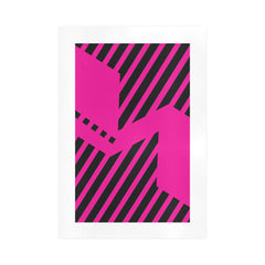WOW | i Collection Pink Abstract Stripes Art Design 16x23 Print