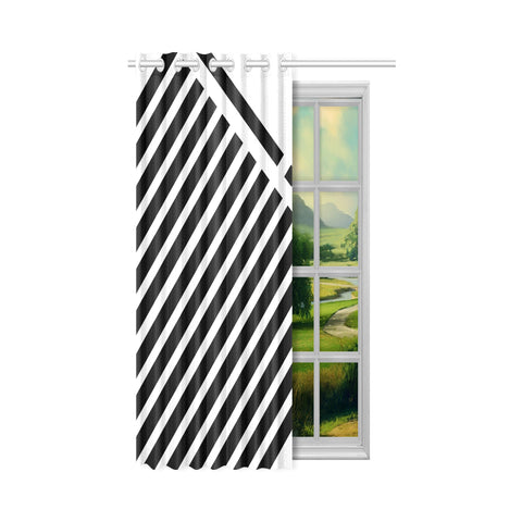 WOW | i Collection Geo Stripes 50x84 White Window Curtain