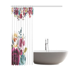 WOW | i Collection Soft Floral Designer 72x84 Shower Curtain