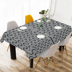 WOW | i Collection Black & Grey Geo S-Wave Tablecloth 60x120 Decoration