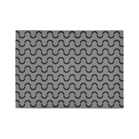 WOW | i Collection Geo S-Wave Grey Area Rug 7' x 5'