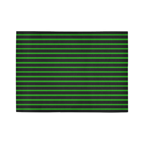 WOW | i Collection Geo Stripes Green Area Rug 7' x 5'