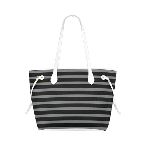 WOW | i Collection Geo Stripes High Grade Grey Classic Tote Bag