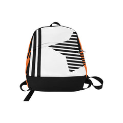 WOW | i Collection Geo Stars High Grade Waterproof Nylon Casual Orange Backpack