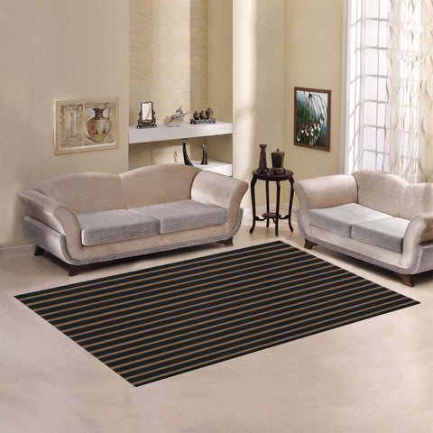 WOW | i Collection Geo Stripes Brown Area Rug 7' x 5'