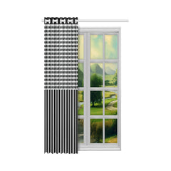 WOW | i Collection Black & Light Grey Corners 50x84 Window Curtain
