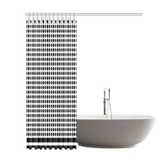 WOW | i Collection B&W Circular Pattern Designer 72x84 Shower Curtain