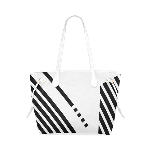 WOW | i Collection B&W Geo Stripes High Grade White Classic Tote Bag