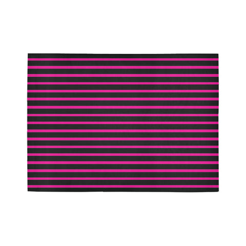 WOW | i Collection Geo Stripes Pink Area Rug 7' x 5'