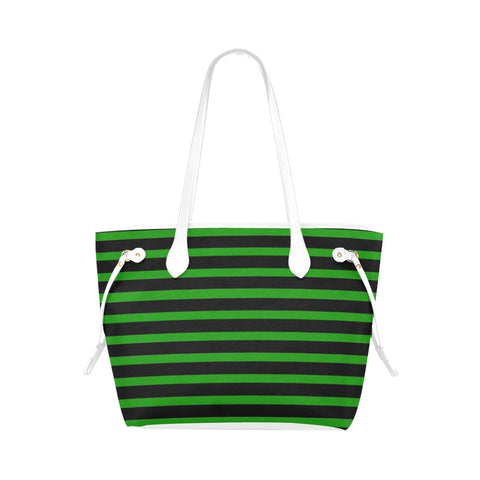 WOW | i Collection Geo Stripes High Grade Green Classic Tote Bag