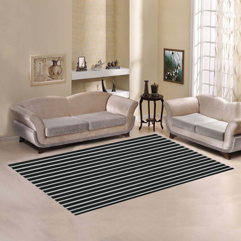 WOW | i Collection Geo Stripes Light Grey Area Rug 7' x 5'