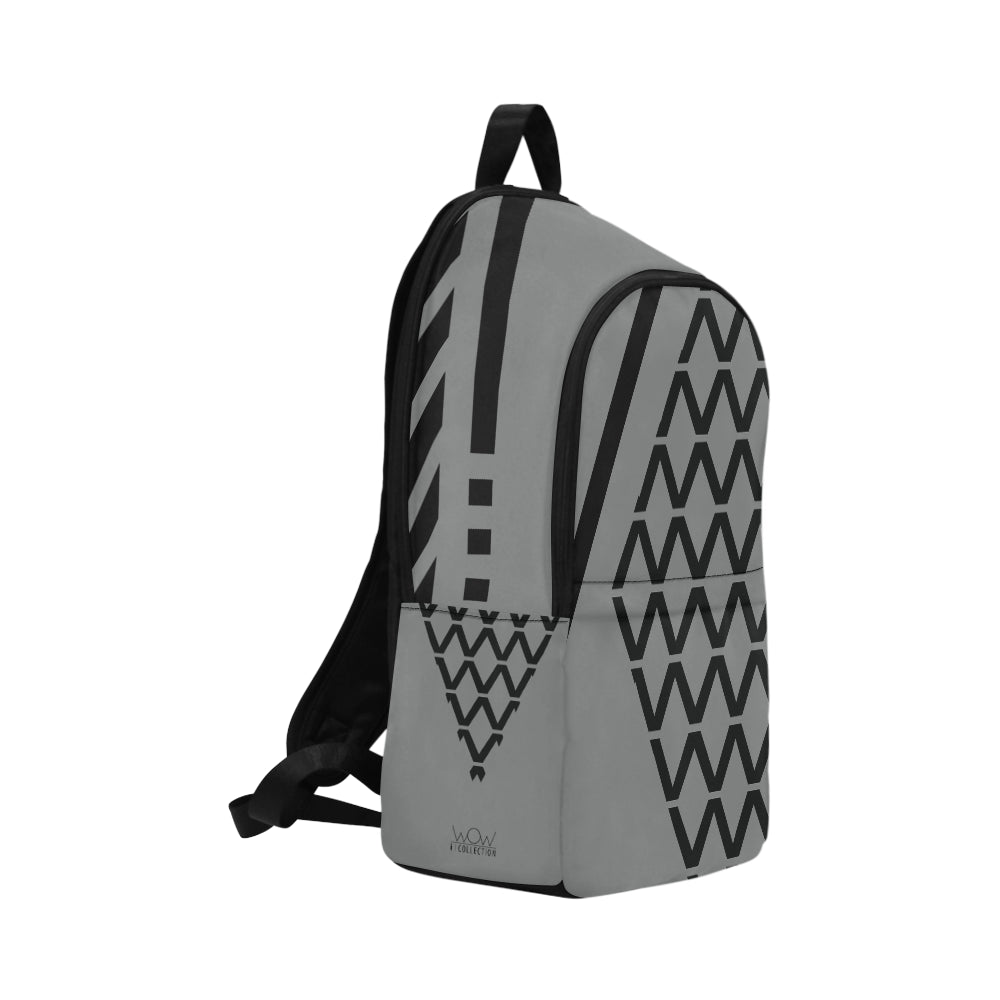 WOW | i Collection Diamondy Waterproof Nylon Casual Grey Backpack