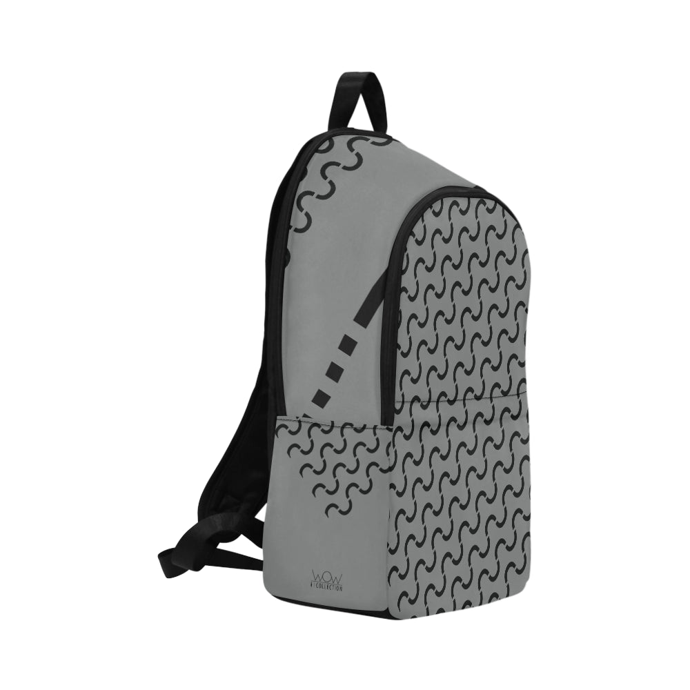 WOW | i Collection S-Wave High Grade Waterproof Nylon Casual Grey Backpack