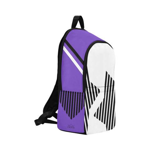 WOW | i Collection Geo Stars High Grade Waterproof Nylon Casual Purple Backpack
