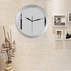 WOW | i Collection i Pattern Elegant Round Silver Framing Wall Clock