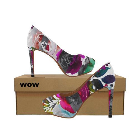 WOW | i Collection Women's High Heels Colorful Floral Fashion Shoes