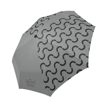 WOW | i Collection Automatic Foldable Grey S-Wave Designer Umbrella