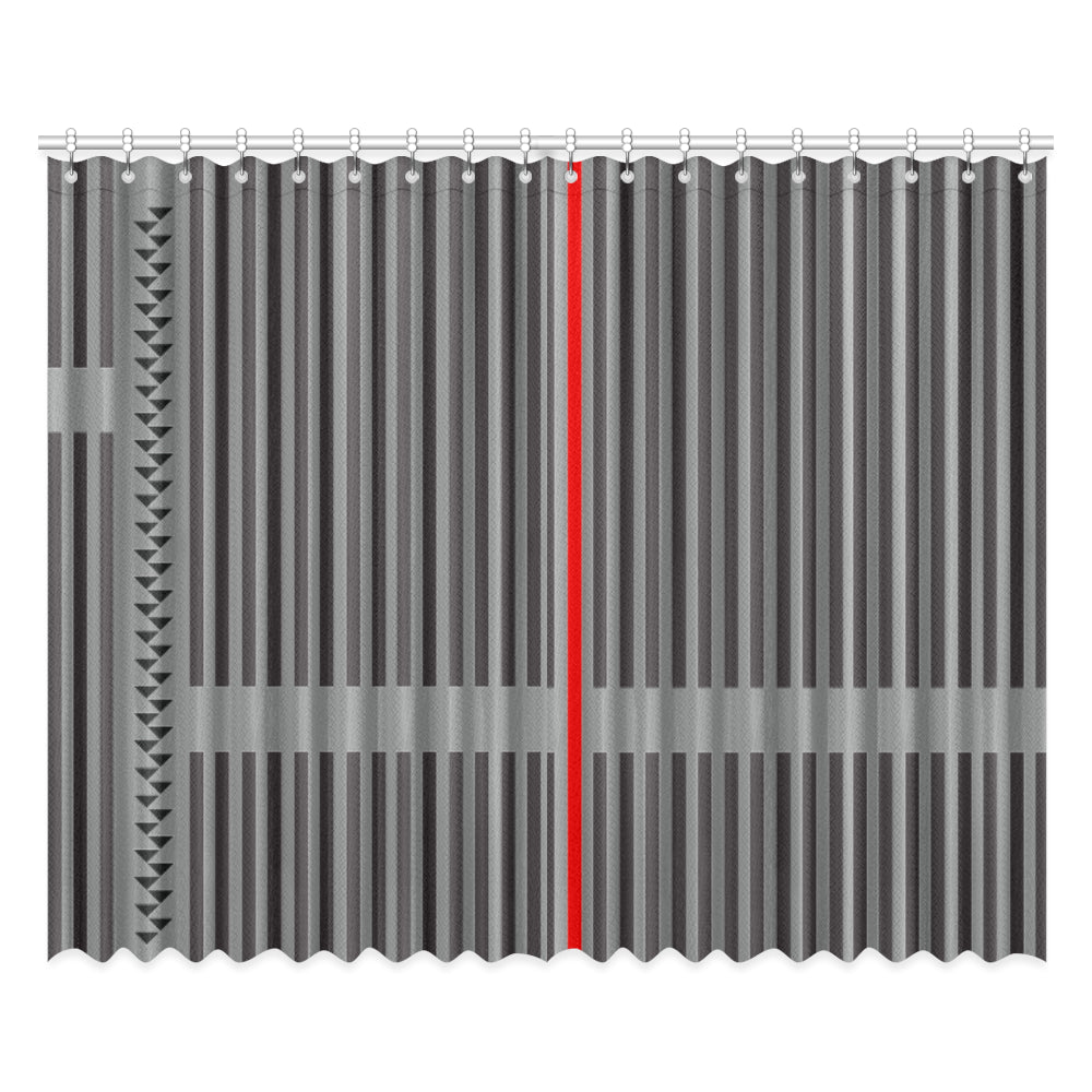 WOW | i Collection Geo R Stripes 52x84 2Pcs Grey Window Curtains