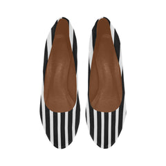 WOW | i Collection Women's High Heels Black and White Stripe Pattern Fashion Shoes
