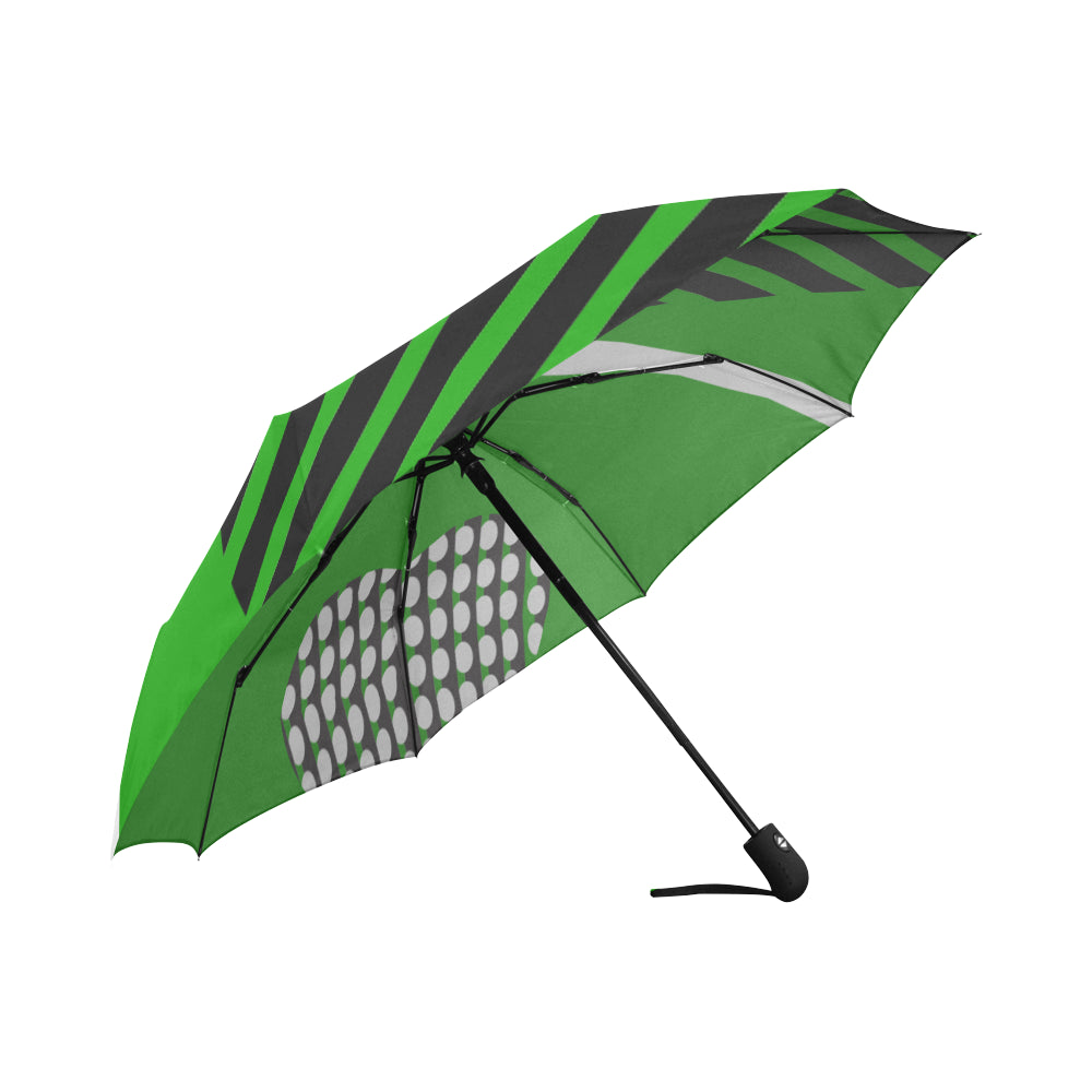 WOW | i Collection Automatic Foldable Green Pattern Designer Umbrella