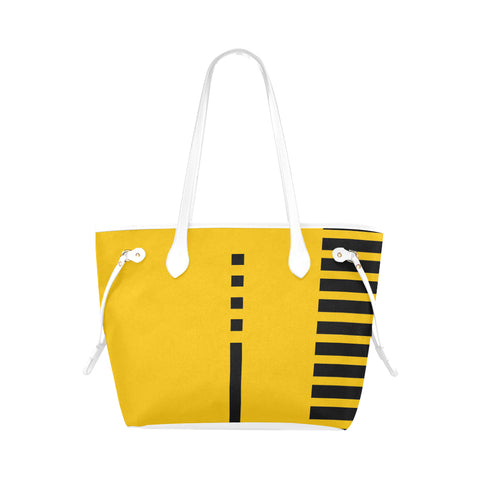 WOW | i Collection Geo Stripes High Grade Yellow Classic Tote Bag