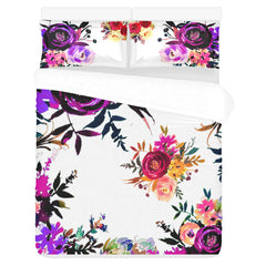 WOW | i Collection 3 Piece Multicolor Floral Bedding Set