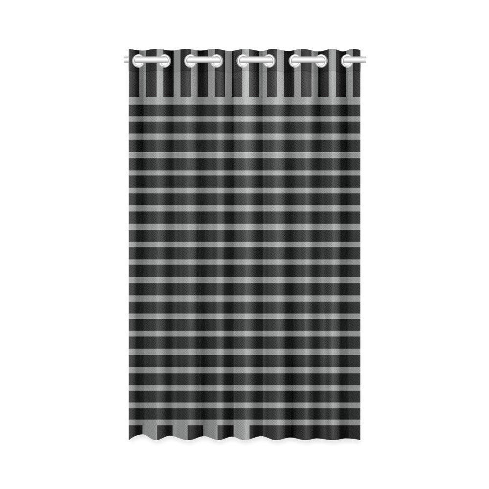 WOW | i Collection Black & Grey Stripes 50x84 Window Curtain