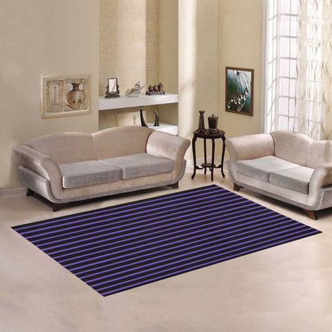 WOW | i Collection Geo Stripes Purple Area Rug 7' x 5'