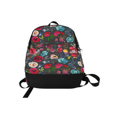 WOW | i Collection Colorful Floral Pattern Waterproof Nylon Casual Black Backpack