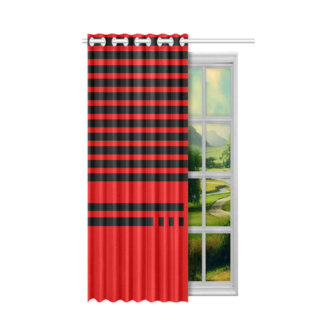 WOW | i Collection Geo Stripes 50x84 Red Window Curtain