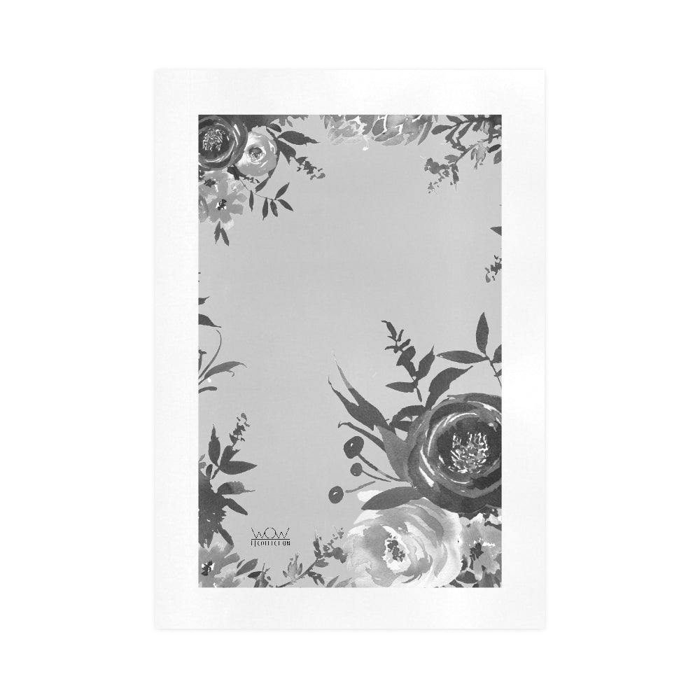 WOW | i Collection B&W Grey Tone Floral Art Design 16x23 Print