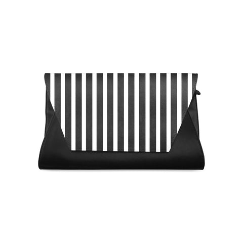 WOW | i Collection Women's Fashion Black and White Pattern Clutch Bag