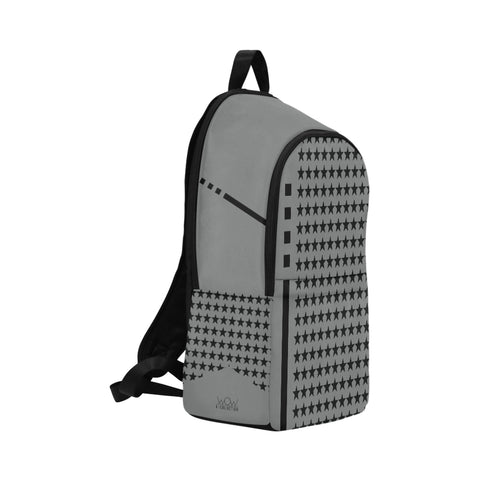 WOW | i Collection Geo Star High Grade Waterproof Nylon Casual Grey Backpack