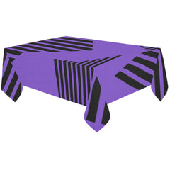 WOW | i Collection Purple Blue Geo Stripes Tablecloth 60x120 Decoration