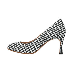 WOW | i Collection Women's Pumps High Heels Four Side Pattern Shoesw