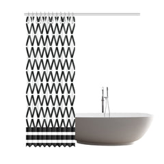 WOW | i Collection B&W Diamondy Designer 72x84 Shower Curtain