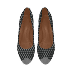 WOW | i Collection Women's High Heels Black and Grey Hexi pattern Fashion Shoes
