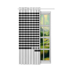 WOW | i Collection Geo Stripes 50x84 Light Grey Window Curtain