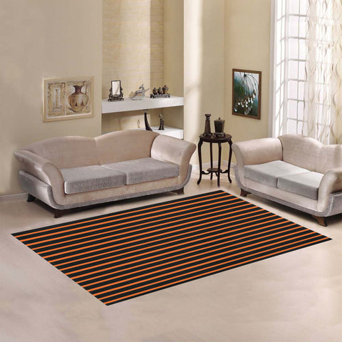 WOW | i Collection Geo Stripes Orange Area Rug 7' x 5'