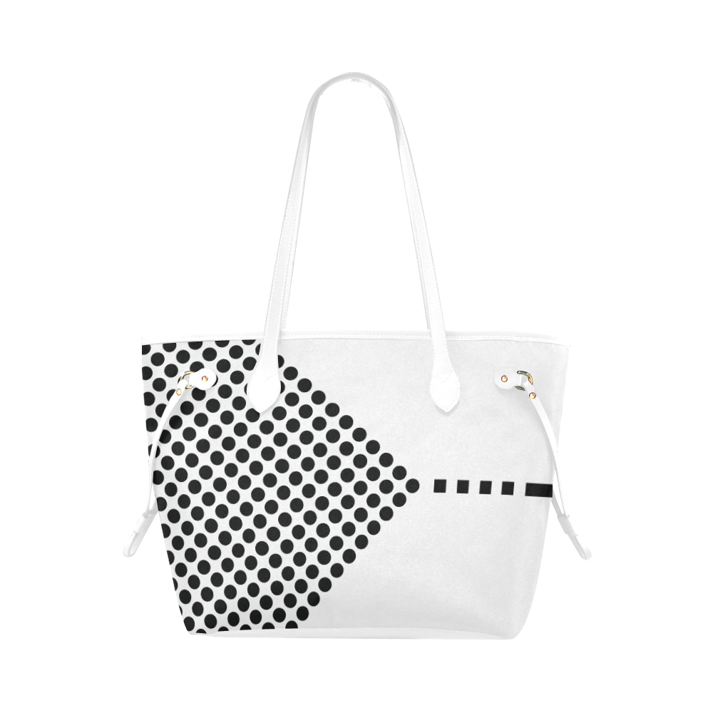 WOW | i Collection Geo Circular Design High Grade B&W Classic Tote Bag
